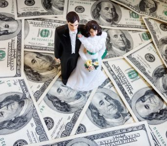 divorce spending money